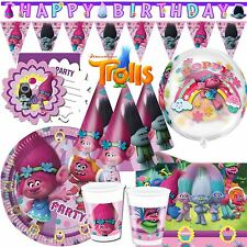 Dreamworks Trolls Tableware Childrens Happy Birthday Party Decorations Partyware