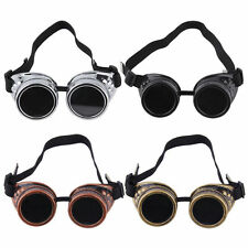 Cyber Goggles Steampunk Glasses Vintage Retro Welding Punk Gothic Victorian SS