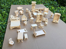 Dollhouse Miniature Furniture DIY Kit Wood house Toy 1 24 Scale Wood Doll house