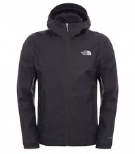 The North Face Quest con cappuccio impermeabile giacca shell TNF Nero Cappotto