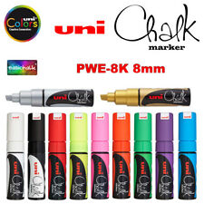 uni Chalk Tiza Rotulador PWE - 8K 8mm punta Pizarra Pizarrón Windows Vidrio