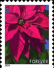 USPS Poinsettia Forever Postage Stamps -- Booklet of 20 20 stamps