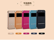 Yolope Metal Sense Touch Slide Leather Flip Cover Case for iPhone 5 and 5s