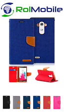 Funda TPU con Tapa Tipo Cartera Canvas Book para LG G3