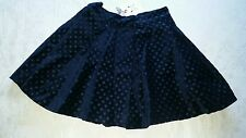 Crew Clothing Co. Junior GIRL Navy Blue Velvet Skirt Size 7 8 9 10 11 years BNWT