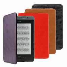 ULTRA SOTTILE CUSTODIA COVER PELLE PU PER AMAZON KINDLE 4 / 5 INTEGRATO LUCE