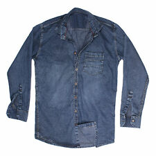 Greentree Men's Casual Denim Shirt Cotton Jeans Shirt MAST23