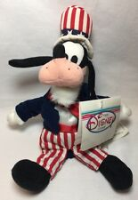 Vintage The Disney Store Uncle Sam Goofy  Beanie 1997