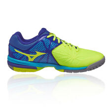 Mizuno Wave Exceed Tour 2 All Mens Yellow Blue Tennis Court Shoes Trainers