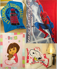 Manta Polar BBC autorizado DOCTOR WHO Spiderman Disney Bob esponja Snoopy Dora