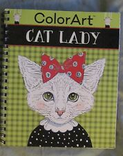 Color Art Cat Lady Perforated Pages Spiral Coloring Book S7P40