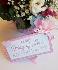 MOTHER'S DAY BIRTHDAY GIFT Little bag of Love from your little girl Mum Mummy