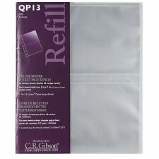 C.R. Gibson E7 Pocket Page Refills For QP13 Deluxe Kitchen Binder – QP13