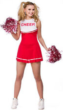 Lindsay High School Cheerleader Costume rosso - Donna Carnevale Travestimento