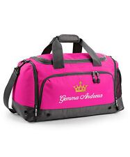 Personalised Holdall Bag with Embroidered Name & Crown, Sport, Gym, Dance