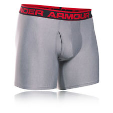 "Under Armour Original 6"" Hombre Gris Running Ropa Interior Boxer Shorts Bragas"