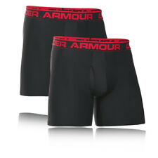 "Under Armour O Series 6"" Hombre Negro Running Gimnasio Shorts Bragas 2 Paquetes"
