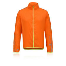 Higher State Hombre Naranja Mangas Largas Completa Running Deporte Chaqueta Top