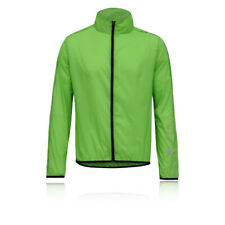 Higher State Hombre Verde Mangas Largas Completa Running Deporte Chaqueta Top