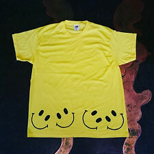Smiley face handmade Hippy Rave T shirt UNISEX SIZES S-2XL festival top