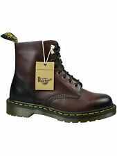 Dr. Martens Doc 8 loch Stiefel Boot 1460 Antique Temperly CR Cherry Red #5089