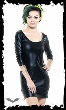 Kleid /Shirt in Lederoptik Wetlook Gr. S bis XL Gothic Queen of Darkness SALE