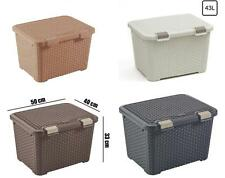 Curver Rattan style plastic container box, 4 colour 43 L