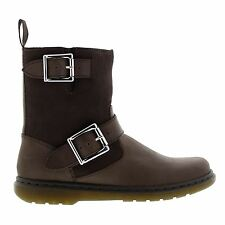 Dr.Martens Gayle Fleece Oily Illusion  Dark Brown Womens Boots