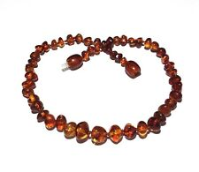 100% Genuine Adult Brandy Snap Cognac Baltic Amber Necklace Love Amber x UK
