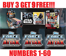 TOPPS STAR WARS FORCE ATTAX UNIVERSE 2017  #1-60 BUY 3 GET 9 FREE!!!! NEW