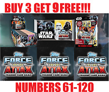 Topps STAR WARS FORCE ATTAX UNIVERSE 2017 Numbers 61-120 ***BUY 3 GET 9 FREE!!**
