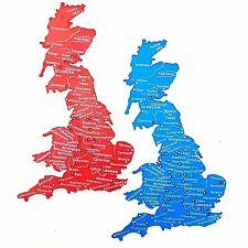 UK Great Britain Stencil Map 1-5 Million Scale Trace Cities Rivers 18cm x 12cm