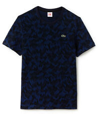 """Lacoste Live T Shirt mountain camo print jacquard ribbed Size 6 + 5 CHEST 46""""44"""""""