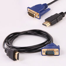 HDMI To VGA Cable male to male Video Cable Adapter For HDTV PC Laptop 6FT