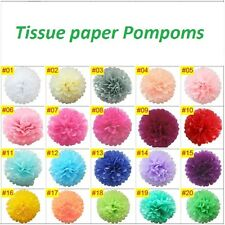 Pack of 10 Wedding, Xmas, and party decorations Tissue paper PomPoms - 8inches