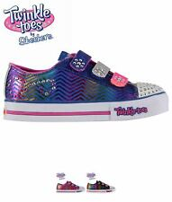 NEW Skechers Twinkle Toes Trainers Childrens Royal/Hot Pink