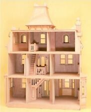 Dollhouse Kits To Build Your Own 1 Inch Scale Large Wooden Victorian Mansion New