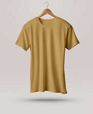 Mens Branded Plain T-shirt Half Sleeve Round Neck Casual Wear Cotton New