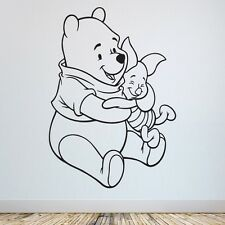 Winnie the Pooh & Piglet Wall Quote Sticker, Kids room & Nursery, Stickers UK