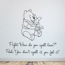 Winnie the Pooh Love Quote Wall Sticker, Childrens room & Nursery, Stickers UK