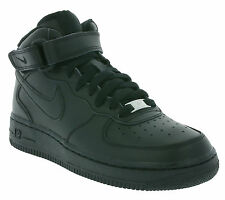 NIKE Air Force 1 MEDIO GS Calzado Sneaker Zapatillas De Correr Negras 314195 004