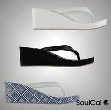 Ladies Branded SoulCal Summer Stylish EVA Wedge Flip Flops Beach Shoes Size 3-8