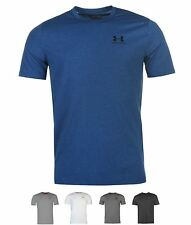 SPORT Under Armour Charged Cotton Chest Lockup T Shirt Mens White