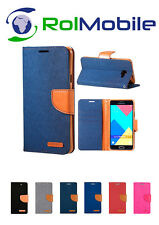 Funda TPU con Tapa Tipo Cartera Canvas Book para Samsung Galaxy J3 2016