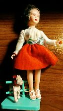 VINTAGE RARE AMANDINA DOLL WITH DOG, MADE IN ITALY