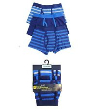 3 Pack Boys Kids Trunks Boxer Shorts Keyhole Cotton Elasticated Waist Underwear