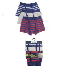 Boys Kids Trunks Shorts Keyhole cotton pack of 3 Elasticated Waist Underwear