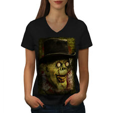 Gentleman Dead man Zombie Women V-Neck T-shirt NEW | Wellcoda