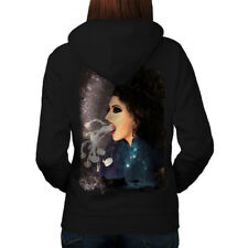 Smoke Vape Space Fantasy Women Hoodie Back NEW | Wellcoda
