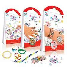 Make Your Own Jewellery Set Beaded Rings or Keyring Charms  Kids Create Age 3+